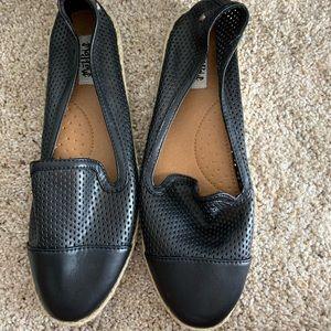 Black espadrilles, size 11